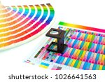 magnifying glass on printed...   Shutterstock . vector #1026641563