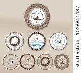 vector cotton's emblem  icon... | Shutterstock .eps vector #1026651487