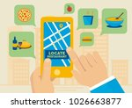 finding lunch restaurants with... | Shutterstock .eps vector #1026663877