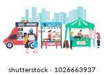 doodle food street banner... | Shutterstock .eps vector #1026663937