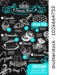 christmas desserts menu...   Shutterstock .eps vector #1026664753