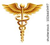 caduceus medical icon | Shutterstock .eps vector #1026665497