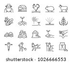 Farm And Agriculture Line Icon...