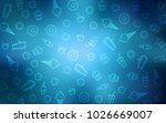 light blue vector cover with... | Shutterstock .eps vector #1026669007