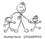 daddy playing with kids naive... | Shutterstock .eps vector #1026684943