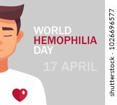 world hemophilia day card 17... | Shutterstock .eps vector #1026696577