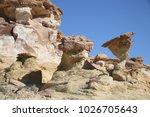 white hoodoos  chimney rock ... | Shutterstock . vector #1026705643
