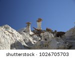 white hoodoos  chimney rock ... | Shutterstock . vector #1026705703