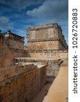 majestic ruins in uxmal mexico. ... | Shutterstock . vector #1026720883