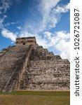 majestic ruins in chichen itza... | Shutterstock . vector #1026721087