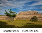 majestic ruins in kabah  mexico.... | Shutterstock . vector #1026721123