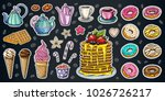 bakery pastry sweets desserts... | Shutterstock .eps vector #1026726217