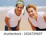 portrait of two beautiful 45...   Shutterstock . vector #1026729607