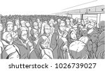 illustration of crowded metro ... | Shutterstock .eps vector #1026739027