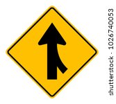 warning traffic sign traffic... | Shutterstock .eps vector #1026740053