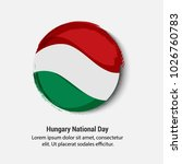 hungary national day with nice... | Shutterstock .eps vector #1026760783