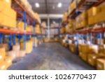blur image of warehouse   Shutterstock . vector #1026770437