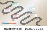 business road map timeline... | Shutterstock .eps vector #1026773263