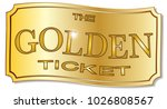 a golden winner ticket over a... | Shutterstock . vector #1026808567