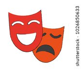theater masks icon image | Shutterstock .eps vector #1026850633