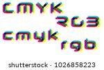 cmyk rgb colorful words...
