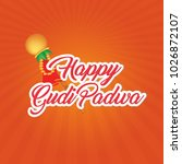 gudi padwa  indian festival    Shutterstock .eps vector #1026872107