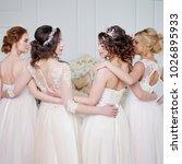 bride in wedding salon. four...   Shutterstock . vector #1026895933