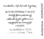 modern calligraphy alphabet.... | Shutterstock .eps vector #1026901537