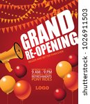 grand re opening background... | Shutterstock .eps vector #1026911503