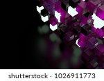 3d render abstract background.  ...   Shutterstock . vector #1026911773