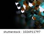 3d render abstract background.  ...   Shutterstock . vector #1026911797