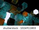 3d render abstract background.  ...   Shutterstock . vector #1026911803
