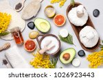 set of traditional spa products....   Shutterstock . vector #1026923443