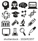 science icons | Shutterstock .eps vector #102692357