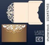 laser cut wedding invitation... | Shutterstock .eps vector #1026937453