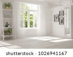 white room with home decor and... | Shutterstock . vector #1026941167