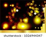 golden light bokeh abstract...   Shutterstock .eps vector #1026944347