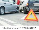 accident or crash with two... | Shutterstock . vector #1026949087