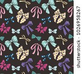 cute seamless pattern with... | Shutterstock .eps vector #1026958267
