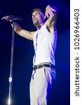 Small photo of Santa Rosa, CA/USA - 6/3/17: Nick Hexum , lead singer of 311 , performs at the High Times Cannabis Cup in Santa Rosa, CA. The band is a blend of rock, reggae, hip hop and funk.