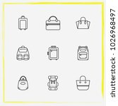 bags line icon set women bag ... | Shutterstock .eps vector #1026968497