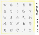baby care line icon set... | Shutterstock .eps vector #1026971713