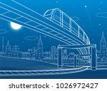 monorail railway.... | Shutterstock .eps vector #1026972427