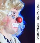 portrait of a clown in the... | Shutterstock . vector #1026972553