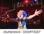 portrait of a clown in the... | Shutterstock . vector #1026973267