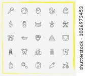 baby care line icon set baby... | Shutterstock .eps vector #1026973453