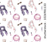 watercolor fashion illustration....   Shutterstock . vector #1026981133