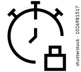 time watch clock icon | Shutterstock .eps vector #1026981517