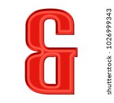 Silky Red Ampersand Or And Sig...