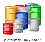 set of different sizes steel... | Shutterstock .eps vector #1027005847